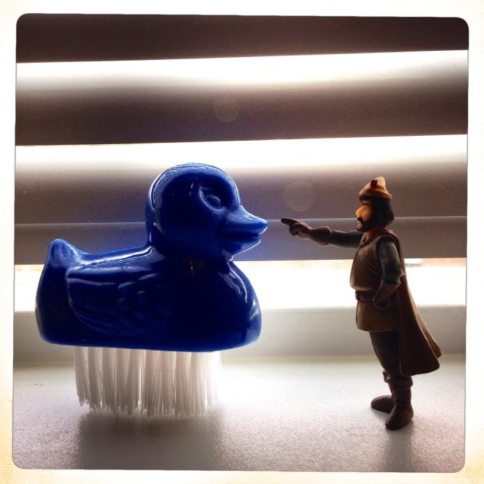 Insubordinate Duck in our Bathroom